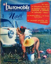 L'Automobile n°140 - 1957 - La Dauphine Gordini - Jouets de Noël - La Motobi -