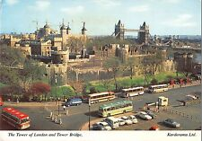 BR91060 the tower of london and tower bridge bus autobus car voiture  uk