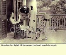 British Raj India Pedicure British Empire Servant 4x4 Inch Reprint Photo R
