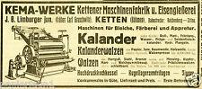 KEMA Maschinenfabrik catene Boemia la pubblicità di 1921 chotyne REPUBBLICA CECA FONDERIA
