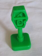 Vintage Fisher Price Little People GREEN PARKING METER for Play Family TOWN CITY