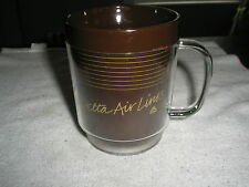 DELTA AIRLINES brown Coffee MUG  in orginal plastic wrap   NEW