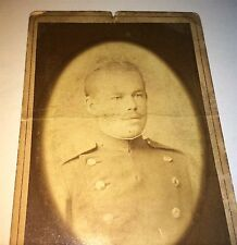 Antique Victorian German Solider in Uniform! W. Boppel Old Military CDV Photo!