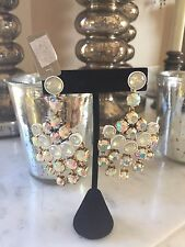 $88 J CREW PINK AND WHITE CRYSTAL EARRINGS