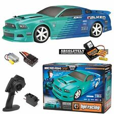 HPI 111230 1/18 Micro RS4 Drift Falken 2013 Ford Mustang On Road Car RTR w/Radio