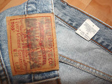 "LEVIS 505 REGULAR FIT JEANS W36"" L32"" BLUE (ORIGINAL) 420"