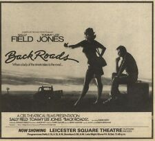 7/11/81PGN27 MOVIE ADVERT 7X5 SALLY FIELDS & TOMMY LEE JONES, BLACK ROADS