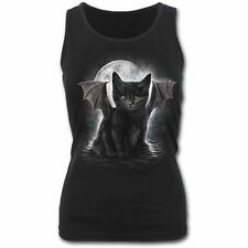 Spiral Direct BAT CAT Razor Back Vest Top T-Shirt Goth Vampire  Size L UK 12-14