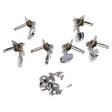 6 Piece Chrome Guitar String Tuning Pegs Tuners Machine Heads Acoustic Electric