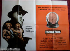 Cinema Poster: FAMILY PLOT 1976 (Quad) Alfred Hitchcock Karen Black Bruce Dern