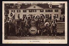 INDIEN peaux  rouges troupe d'indiens musiciens des usa  expo coloniale 1931
