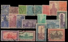 INDIA 1949-Archaeological Series, Comp. Set of 19-Used Stamps