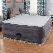 "22"" Queen Dura-Beam Raised Air Mattress Bed Inflatable Pump Camping Blow Up"