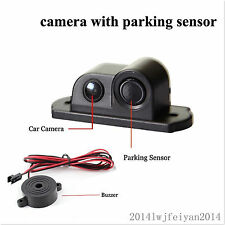 2in1 Car SUV Reverse Parking Radar & Rear View Backup 120° Wide Angle Camera Kit