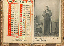 VITTEL CALENDRIER DE POCHE SUPPORT SIROP MIRAL 1922