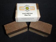 Homemade Goat's Milk Soap ~Pine Tar Soap ~ Handmade Soap For  Eczema & Psoriasis