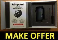 Factory New 2016 Aimpoint T-2 T2 2MOA NV Red Dot Sight No Mount 200180