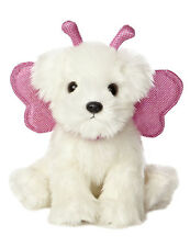New AURORA MIYONI Stuffed Plush Toy PINK MALTESE Fairy Puppy Dog WING Fairie