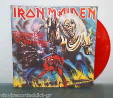 IRON MAIDEN 'THE NUMBER OF THE BEAST' LTD RE-LP RED COLOR WAX RARE NM DICKINSON
