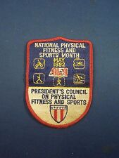 Vintage May 92' President Council National Physical Fitness & Sports Month Patch