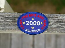 Camp Fire Boys And Girls 2000 Millennium Embroidered Patch Badge Red Blue Scouts