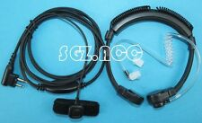 Throat Mic Headset Adjustable Band Size For Motorola Radio GP2000 GP2100 GP300