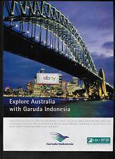 GARUDA INDONESIA 2008 EXPLORE AUSTRALIA SYDNEY HARBOUR BRIDGE AT NIGHT AD