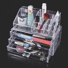Acrylic Clear Makeup Cosmetics Organizer Drawers Grids Display Table Box Storage