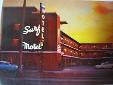 SURF MOTEL SAN FRANCISCO CA WITH 1950'S CARS 1960'S VINTAGE POSTCARD   T*