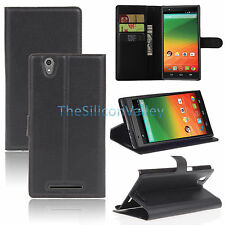 For ZTE ZMAX Z970 Phone Leather Flip Wallet Cover Case Folio Pouch Stand