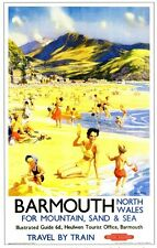 Barmouth (2) Railway Retro Vintage Old Picture Old School Poster Print A4