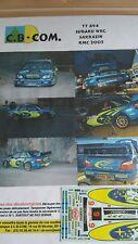 Decals 1/24  réf 894 Subaru WRC Sarazzin  Monte Carlo 2005