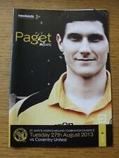 27/08/2013 Paget Rangers v Coventry United   (Item has no apparent faults).