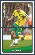 PANINI NPOWER CHAMPIONSHIP 2011- #242-243-NORWICH CITY-CLUB CAPTAIN-GRANT HOLT