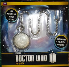 DR WHO FIGURES Fob Watch 11 Incarnations of the Doctor GREAT PRESENT