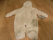 Baby Size 6-9 Months US Polo Assn. Off White Hooded Pram Snow Suit Snowsuit New