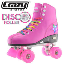 Crazy Disco Girls / Ladies Recreational High Top Roller Skates - Pink - Size 40