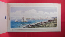 Coloured Etching of Bangor Bay by Robert Cresswell Boak Royal Ulster Yacht Club