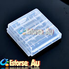 White Hard Plastic Case Holder Storage Box For 4pcs AA Battery