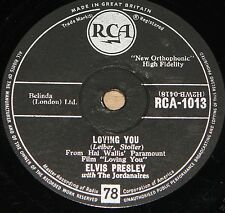 ELVIS PRESLEY TEDDY BEAR b/w LOVING YOU RCA 78 RPM E+ EXCELLENT PLUS GRADE