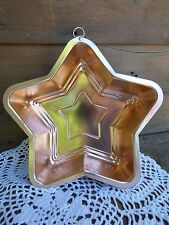 COPPER STAR TIN/ JELLOW MOLD TIN/ KITCHEN DÉCOR/ AMERICANA/ PATRIOTIC STAR TIN
