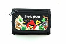 ANGRY BIRDS BLACK POUCH/WALLET-ANGRY BIRDS TRI-FOLD WALLET-NEW WITH TAGS!VER2