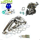 RB25DET GT3582 500HP Turbo Kit+ Manifold+ BLUE Wastegate for Skyline R33 R34 4a