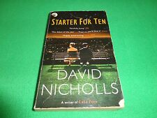 STARTER FOR TEN  BY  DAVID NICHOLLS  (SMALL PAPERBACK BOOK)#