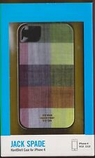 Jack Spade FABRIC PLAID hard shell iPhone case cover for iPhone 4/4S