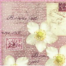 4x tableau unique fête serviettes en papier pour découpage decopatch vintage bonne féte