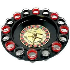 Shot Glass ROULETTE WHEEL Drinking GAME Set Gamble Bar Drinking Entertainment