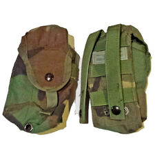 Lot of 2 US Military Surplus Army Woodland Molle Double Mag Ammo Utility Pouch