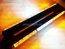 DOUBLE SIDE 108W LED WORK LIGHT BAR BEACON WARNING CAR STROBE LIGHTS AMBER&WHITE