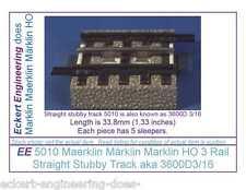 EE 5010 GD Maerklin Märklin Marklin HO 3R 3 Rail Stubby Straight Track 3600D3/16